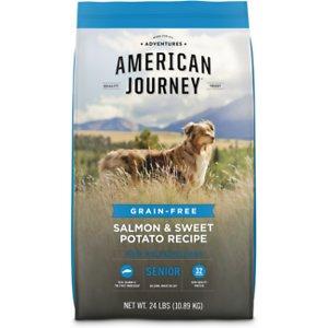 American Journey Salmon & Sweet Potato Recipe Grain-Free Senior Dry Dog Food