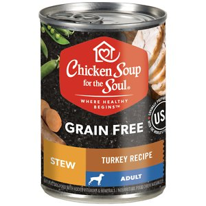 Chicken Soup for the Soul Turkey Recipe Stew Grain-Free Canned Dog Food