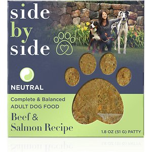 Side By Side Neutral Complete & Balanced Beef & Salmon Recipe Freeze-Dried Adult Dog Food