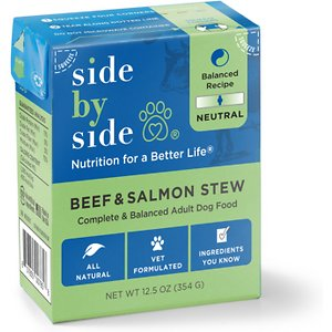 Side By Side Neutral Complete & Balanced Beef & Salmon Wet Dog Food