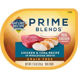 Nature's Recipe Prime Blends Grain-Free Chicken & Tuna in Broth Recipe Wet Dog Food