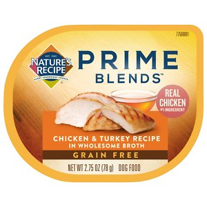 Nature's Recipe Prime Blends Grain-Free Chicken & Turkey in Broth Recipe Wet Dog Food