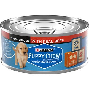 Puppy Chow Classic Ground Beef Pate Wet Puppy Food