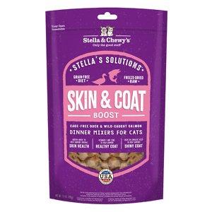 Stella & Chewy's Stella's Solutions Skin & Coat Duck & Salmon Freeze-Dried Raw Cat Food