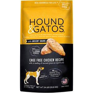 Hound & Gatos Ancient Grain Cage Free Chicken Recipe Dry Dog Food