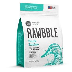 BIXBI Rawbble Duck Recipe Grain-Free Freeze-Dried Dog Food