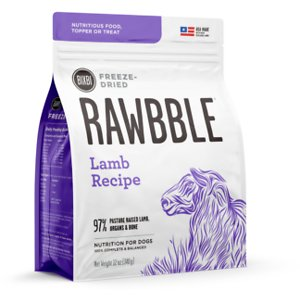 BIXBI Rawbble Lamb Recipe Grain-Free Freeze-Dried Dog Food