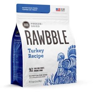 BIXBI Rawbble Turkey Recipe Grain-Free Freeze-Dried Dog Food
