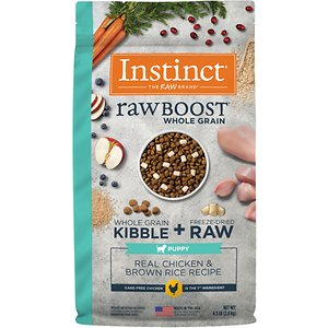 Instinct Raw Boost Puppy Whole Grain Real Chicken & Brown Rice Recipe Freeze-Dried Raw Coated Dry Dog Food