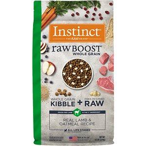 Instinct Raw Boost Whole Grain Real Lamb & Oatmeal Recipe Freeze-Dried Raw Coated Dry Dog Food