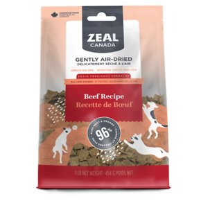 Zeal Canada Gently Beef Recipe Grain-Free Air-Dried Dog Food