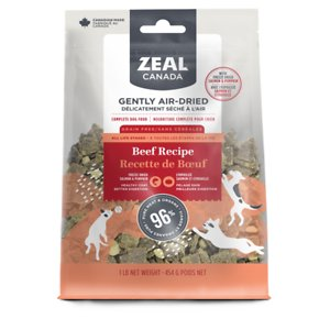 Zeal Canada Gently Beef Recipe & Freeze-Dried Salmon & Pumpkin Grain-Free Air-Dried Dog Food