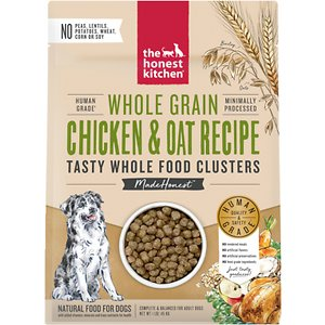 The Honest Kitchen Food Clusters Whole Grain Chicken & Oat Recipe Dehydrated Dog Food