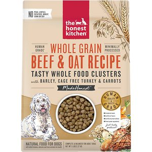The Honest Kitchen Food Clusters Whole Grain Beef & Oat Recipe Dehydrated Dog Food