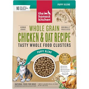 The Honest Kitchen Food Clusters Whole Grain Chicken & Oat Recipe Puppy Blend Dehydrated Dog Food