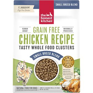 The Honest Kitchen Whole Food Clusters Chicken Recipe Small Breed Grain-Free Dehydrated Dog Food