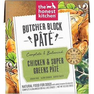 The Honest Kitchen Butcher Block Pate Chicken & Super Greens Pate Wet Dog Food