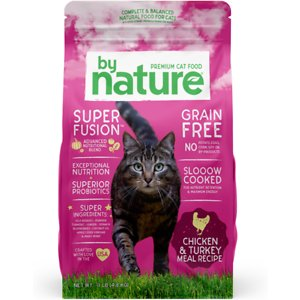 By Nature Pet Foods Chicken & Turkey Meal Recipe Grain-Free Dry Cat Food