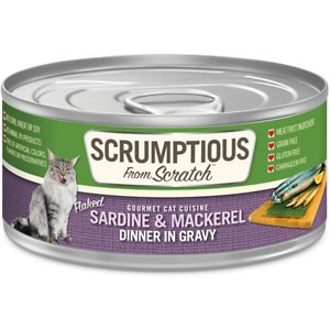 Scrumptious From Scratch Sardines & Mackerel Dinner In Gravy Canned Cat Food