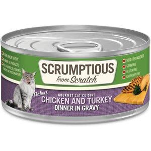 Scrumptious From Scratch Chicken & Turkey Dinner In Gravy Canned Cat Food