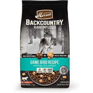 Merrick Backcountry Raw Infused Grain Free Dry Dog Food Game Bird Recipe