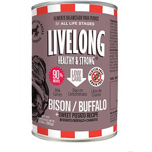Livelong Healthy & Strong Bison/Buffalo & Sweet Potato Recipe Wet Dog Food