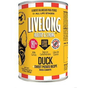 Livelong Healthy & Strong Duck & Sweet Potato Recipe Wet Dog Food