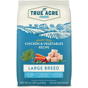 True Acre Foods Large Breed Chicken & Vegetables Recipes Grain-Free Dry Dog Food