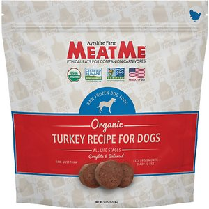 MeatMe Organic Turkey Recipe Frozen Dog Food