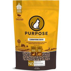 Purpose Carnivore Duck Freeze-Dried Grain Free Raw Cat Food