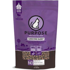 Purpose Carnivore Rabbit Freeze-Dried Grain Free Raw Cat Food