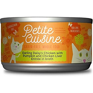 Petite Cuisine Darling Daisy's Chicken with Pumpkin & Chicken Liver Entree in Broth Grain-Free Wet Cat Food