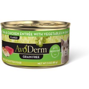 AvoDerm Natural Grain-Free Tuna & Chicken Entree with Vegetables Canned Cat Food