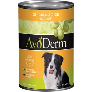 AvoDerm Natural Chicken & Rice Recipe Canned Dog Food