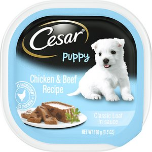Cesar Puppy Classic Loaf in Sauce Chicken & Beef Recipe