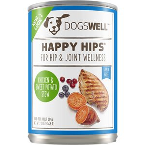 Dogswell Happy Hips Chicken & Sweet Potato Stew Recipe Grain-Free Canned Dog Food