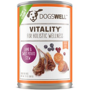 Dogswell Vitality Lamb & Sweet Potato Stew Recipe Grain-Free Canned Dog Food