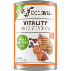 Dogswell Vitality Chicken & Sweet Potato Stew Recipe Grain-Free Canned Dog Food