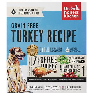 The Honest Kitchen Turkey Recipe Grain-Free Dehydrated Dog Food