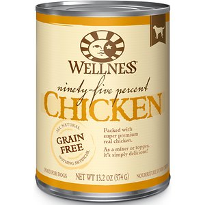 Wellness Ninety-Five Percent Chicken Grain-Free Canned Dog Food Topper