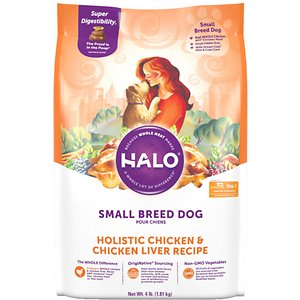 Halo Holistic Chicken & Chicken Liver Recipe Small Breed Dry Dog Food