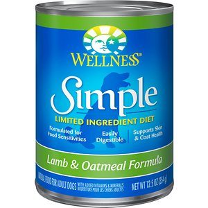 Wellness Simple Limited Ingredient Diet Lamb & Oatmeal Formula Canned Dog Food