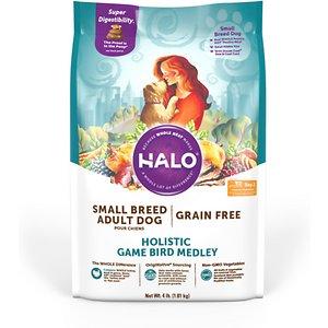 Halo Holistic Small Breed Grain-Free Game Bird Medley Dry Dog Food