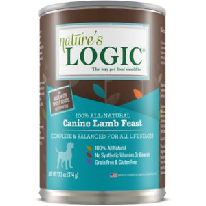 Nature's Logic Lamb Feast All Life Stages Grain-Free Canned Dog Food