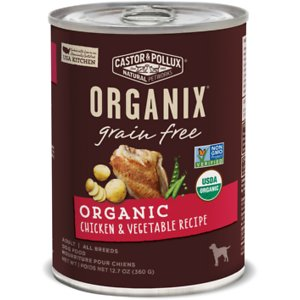 Castor & Pollux Organix Grain-Free Organic Chicken & Vegetable Recipe Adult Canned Dog Food