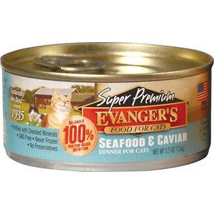 Evanger's Super Premium Seafood & Caviar Dinner Grain-Free Canned Cat Food