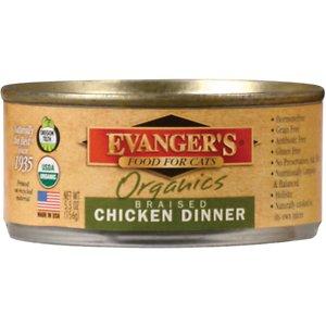 Evanger's Organics Braised Chicken Dinner Canned Cat Food