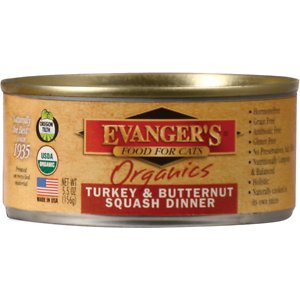 Evanger's Organics Turkey & Butternut Squash Dinner Canned Cat Food