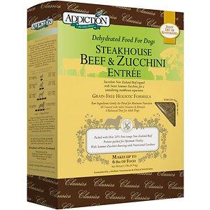 Addiction Steakhouse Beef & Zucchini Entree Grain-Free Raw Dehydrated Dog Food