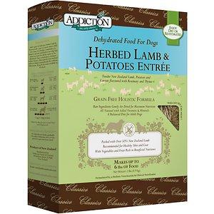 Addiction Herbed Lamb & Potatoes Grain-Free Raw Dehydrated Dog Food